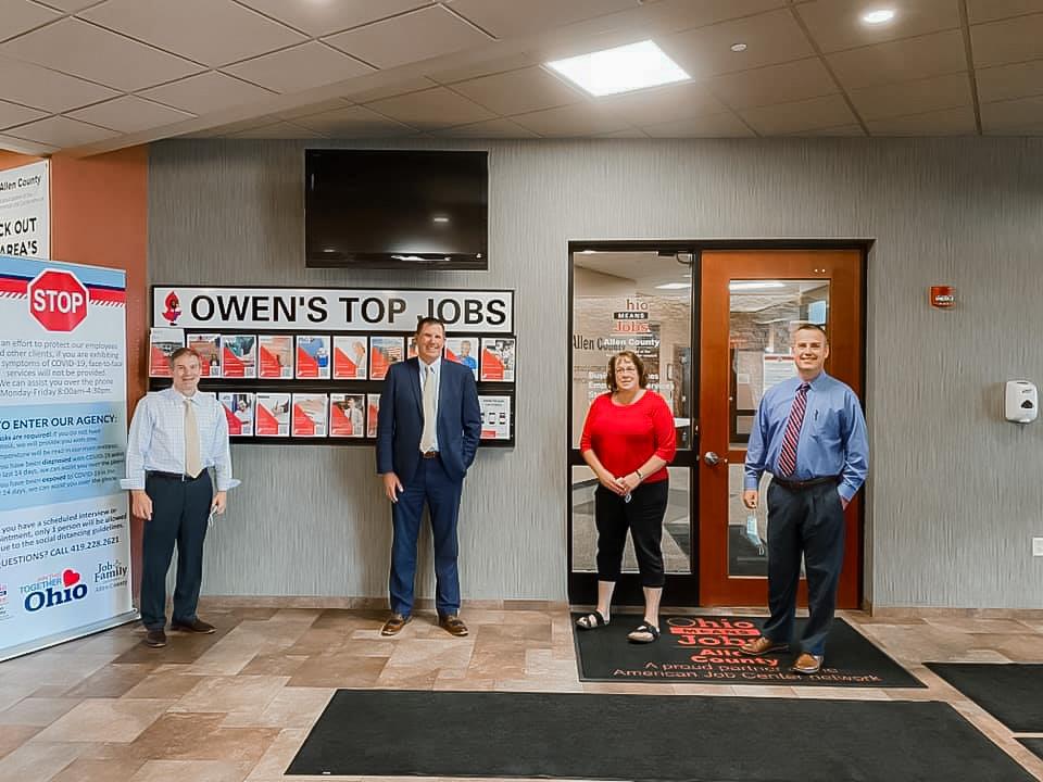 Jim Jordan Visits new Job Center